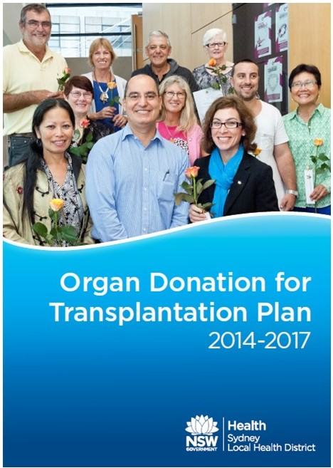 image of the cover of the Organ Donation for Transplantation Plan 2014-2017