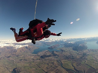 Will Chapman skydiving